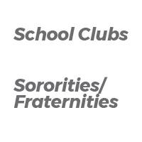 School Clubs - Greeks